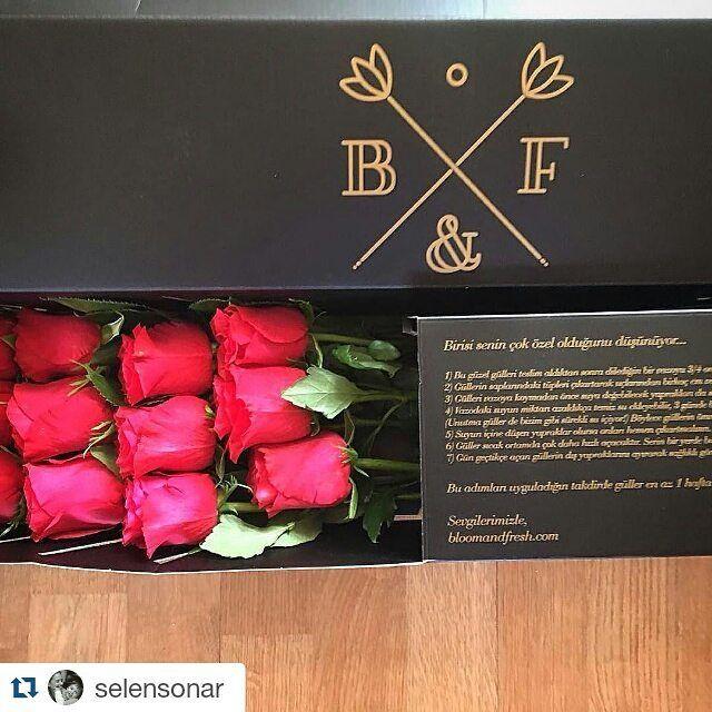 #Repost @selensonar  Emektar ayaklarıma gelen güzel geçmiş olsun hediyesi  sanırım gördüğüm en güzel güller  gülü ayrı kutusu ayrı mühürlü mesaj kartı ayrı güzel  @altug_aymer #bloomandfresh #gül #rose #hediye