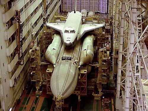 Buran shuttle in storage. | Russian Space Shuttle | Pinterest