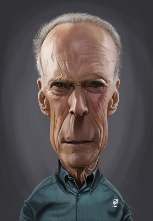 Clint Eastwood art | decor | wall art | inspiration | caricature | home decor | idea | humor | gifts