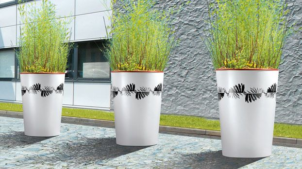 Sineu Graff Urban Daisy Vase Steel Planter