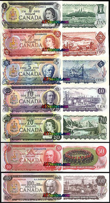 1969-75 Canada banknotes - Canada paper money catalog and Canadian currency history