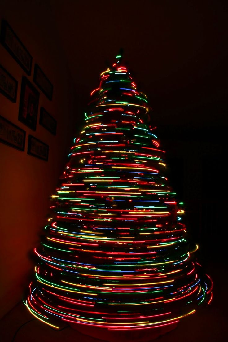 Christmas decoration with candles that spins - Beautiful Though It Would Probably Drive The Cats Insane Spinning Christmas Tree