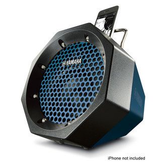 #Yamaha portable, powerful #speaker system amplifies your #iPod/iPhone music for your active lifestyle. Designed the octagon-shaped body to deliver stability, toughness and style. Choose from four strong colors - white, dark blue, green ...
