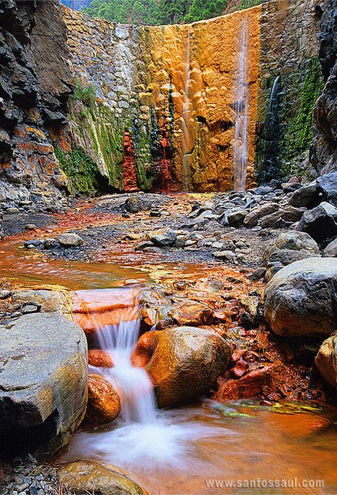 This is such an awesome photo!  Cascade of Colors, Isla de La Palma, Canary Islands, Spain
