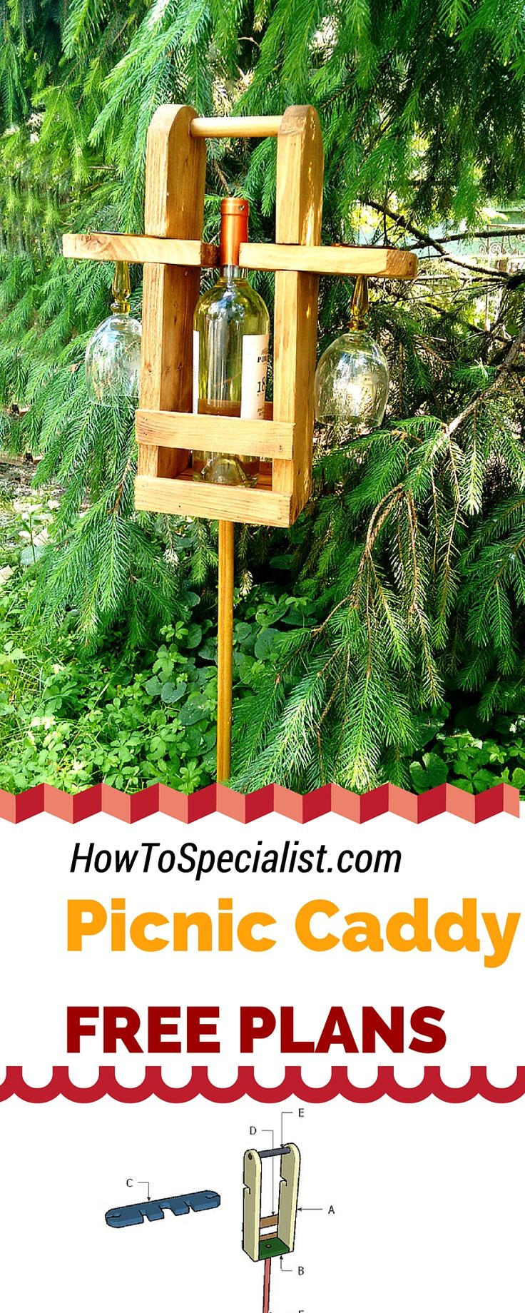 Diy bar plans howtospecialist how to build step by step diy plans - Easy To Follow Plans For Your To Learn How To Build A Picnic Wine Caddy