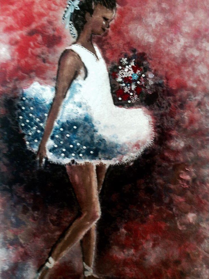 Pikku ballerina / sekatekniikka
