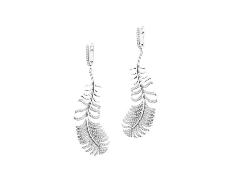 Kolczyki srebrne z cyrkoniami - wzór AP124-0281 / Apart