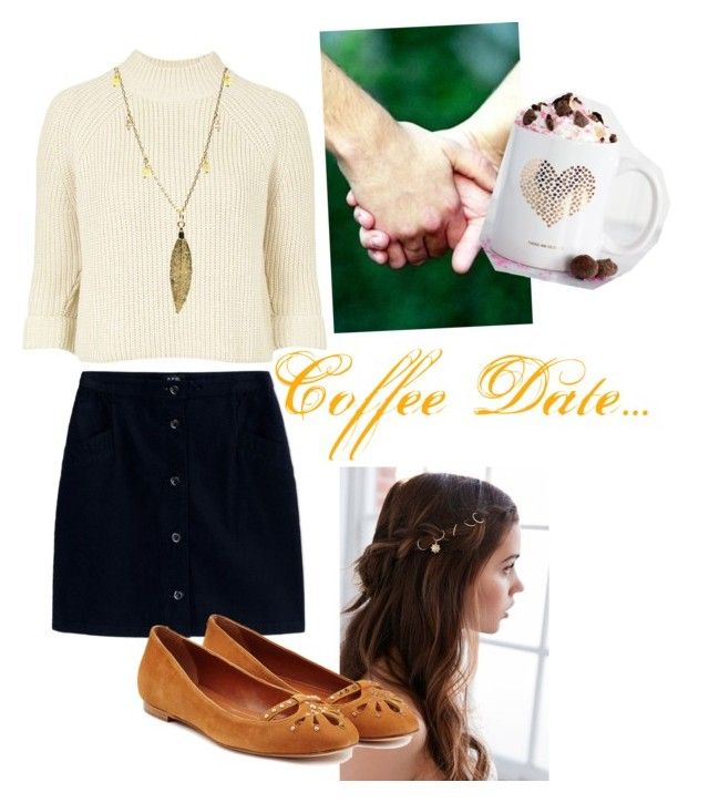 """""""Coffee Date Outfit"""" by jewelyourheart on Polyvore featuring A.P.C., Topshop…"""