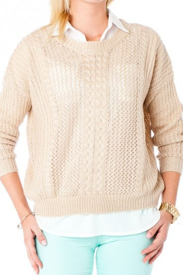 Etienne Cable Knit Sweater