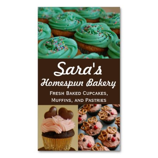 9 best bakery ideas images on pinterest petit fours cupcake cupcake bakery photo business cards reheart Image collections