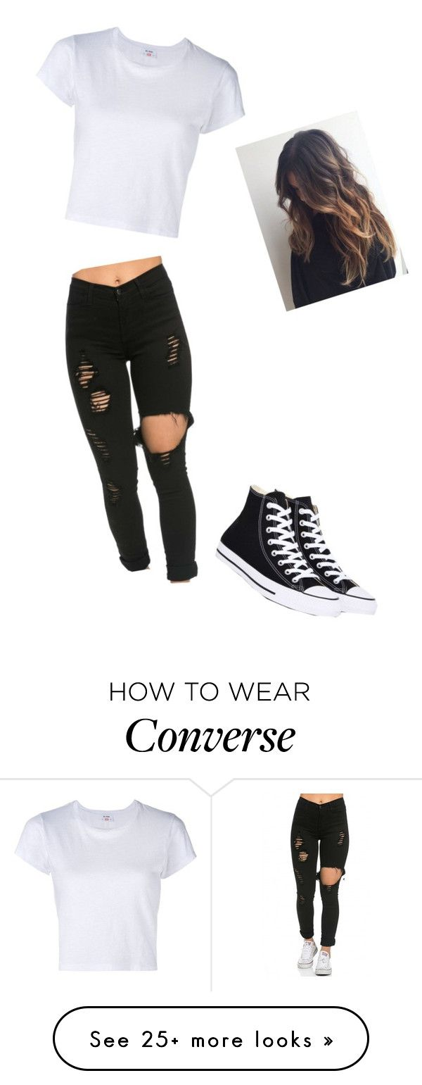 """I'm so wavy"" by hdflynn on Polyvore featuring RE/DONE and Converse"