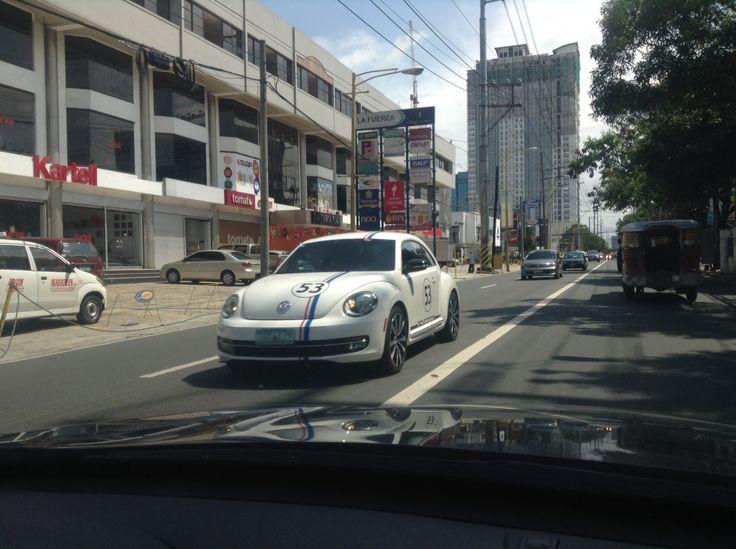 Herbie's Son (Volkswagen Beetle Turbo) spotted in Makati City!