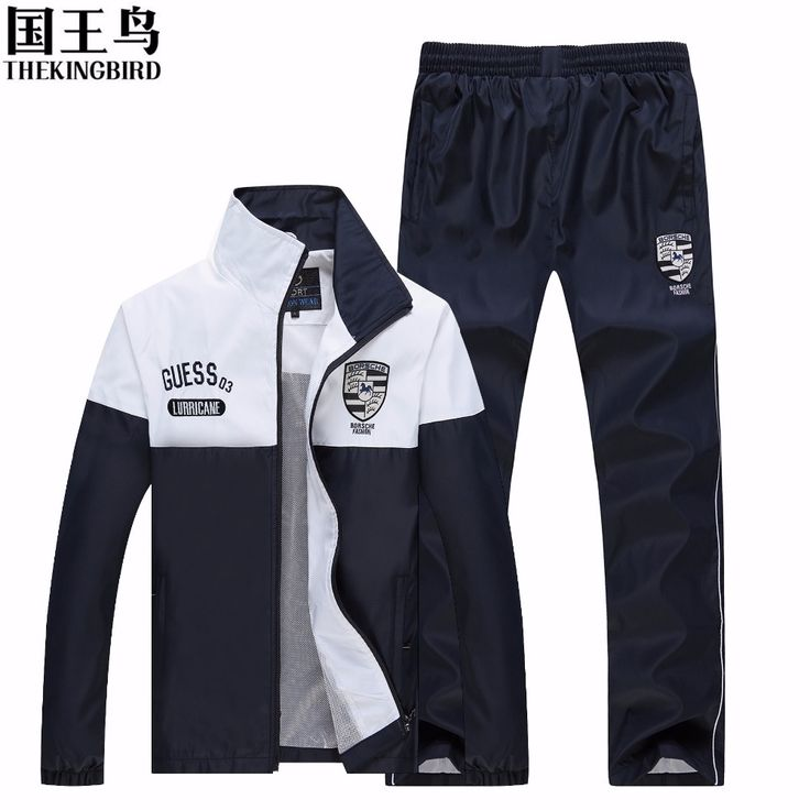 track suit Men's Spring and Autumn outdoor Run Breathable sport suit movement Two-piece Loose Large size Men's track suit