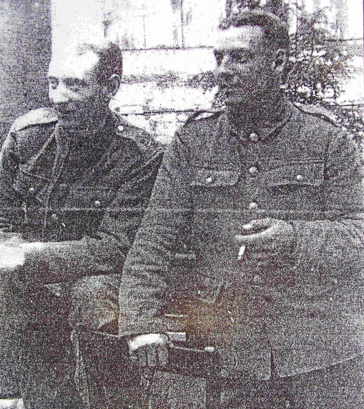 Frank Tarbath (1895-1916), on the right, was killed on the last day of the Battle of the Somme 18.11.1916. He is remembered  in the Book of  Commemoration in Ledbury Church. His brother Harry, on the left, survived the War.
