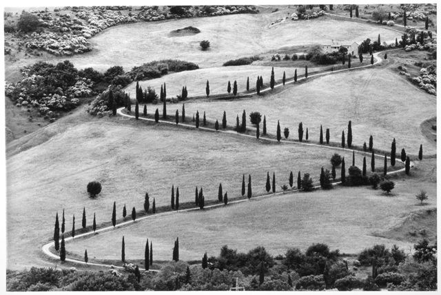 Gianni Berengo Gardin  I love the abstraction and graphic of this picture of Toscana