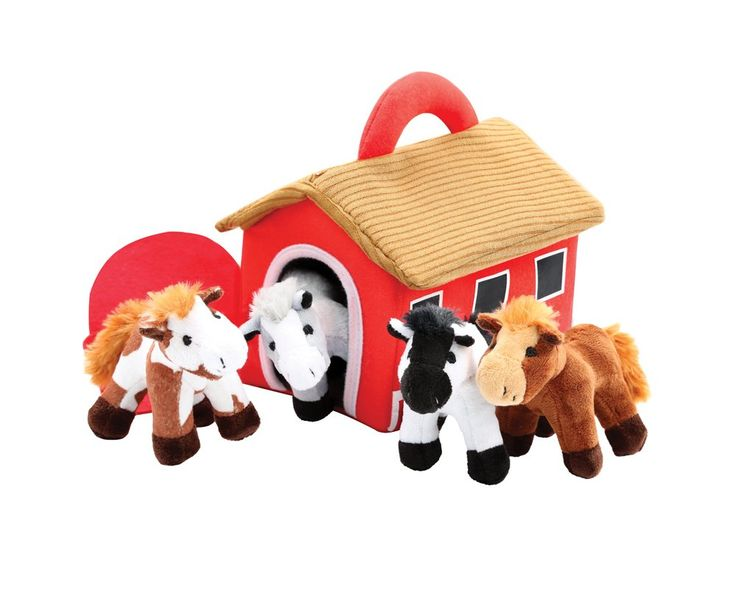 Amazon.com: Plush Horse Stable Carrier With 4 Neighing Horses by Animal House: Toys & Games | @giftryapp