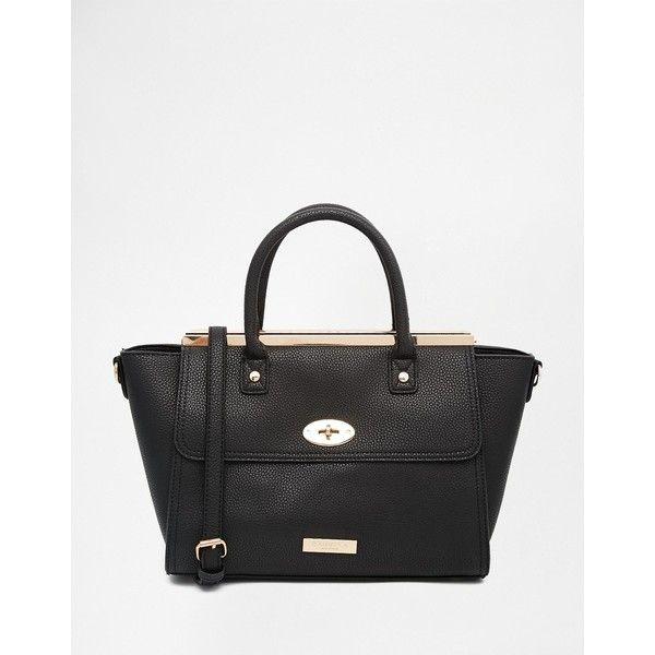 Carvela Tote Bag (115 CAD) ❤ liked on Polyvore featuring bags, handbags, tote bags, black, handbags totes, zipper purse, black zipper tote, black tote and black tote handbag