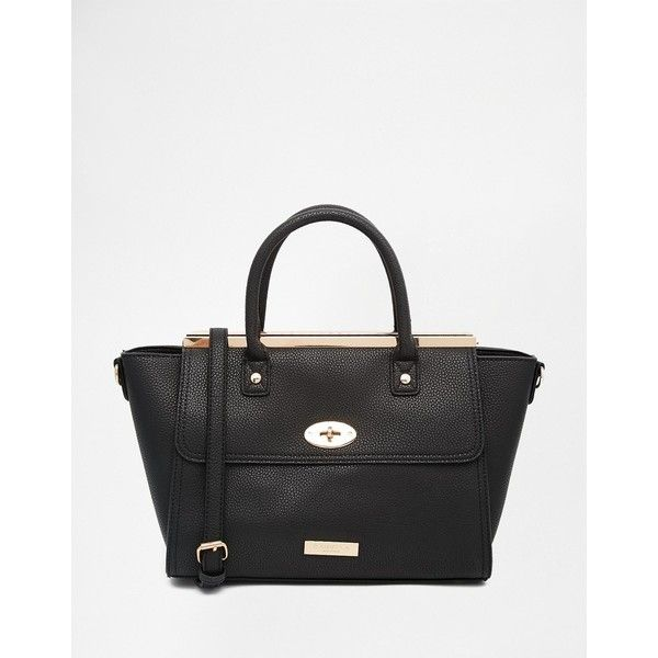 Carvela Tote Bag (115 CAD) ❤ liked on Polyvore featuring bags, handbags, tote bags, black, handbags totes, zipper purse, black zipper tote, black tote and black tote handbag