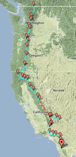 pacific coast trail | ... have thru-hiked the Pacific Crest Trail than have Climbed Mt. Everest