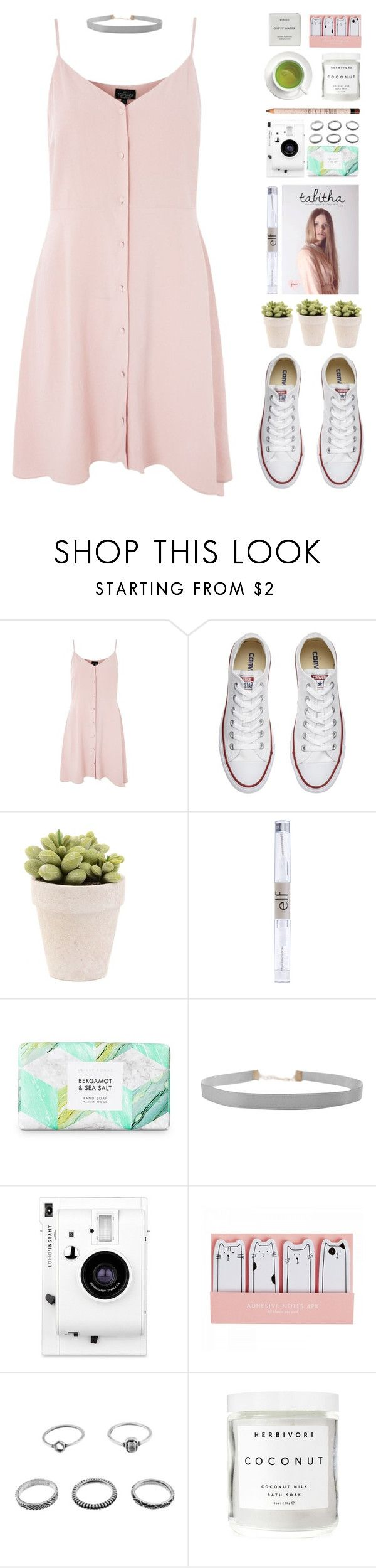 """Picnic in the Park"" by la-lunar-eclipse on Polyvore featuring Topshop, Converse, e.l.f., Humble Chic, Lomography, Herbivore and Byredo"