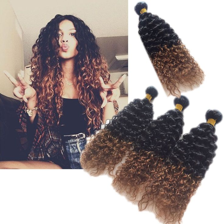 1234 best high quality real human hair extension images on fashion 1b30 2tone ombre afro curly wave 100 real human hair extensions pmusecretfo Image collections