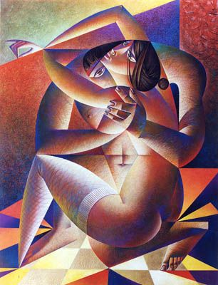 Georgy Kurasov is a Russian artist from cubism, constructivism and sensuality