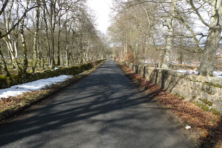 A quiet B-road near Alford, Aberdeenshire, Scotland