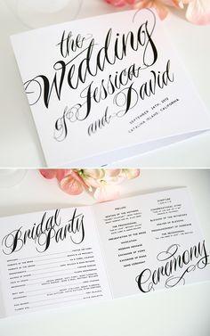 ravishing script wedding ceremony programs, love! http://www.shineweddinginvitations.com/ceremony-programs/ravishing-script-trifold-ceremony-programs