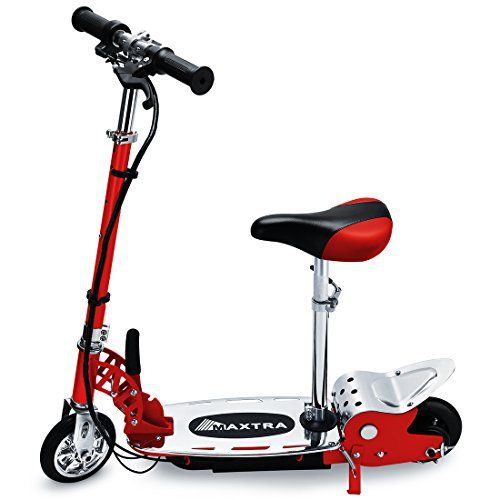 """specification Material of scooter: steel with aluminum T-handle Powerful fun at speeds of up to 12-14mph Up to 60 minutes of continuous use Twist Grip Throttle acceleration control New belt driven motor Handlebar folding mechanism 6"""" PU tire Battery charge time 3-5 hours CE/UL certificated... more details available at https://perfect-gifts.bestselleroutlets.com/gifts-for-teens/skates-skateboards-scooters/product-review-for-fast-shipping-new-year-kids-gift-maxtra-electric"""