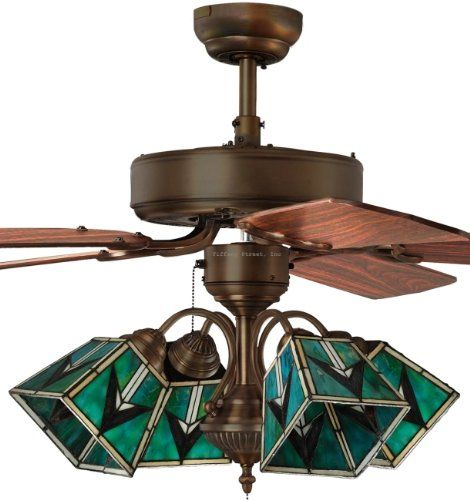 41 Best Images About Stained Glass Ceiling Fan On
