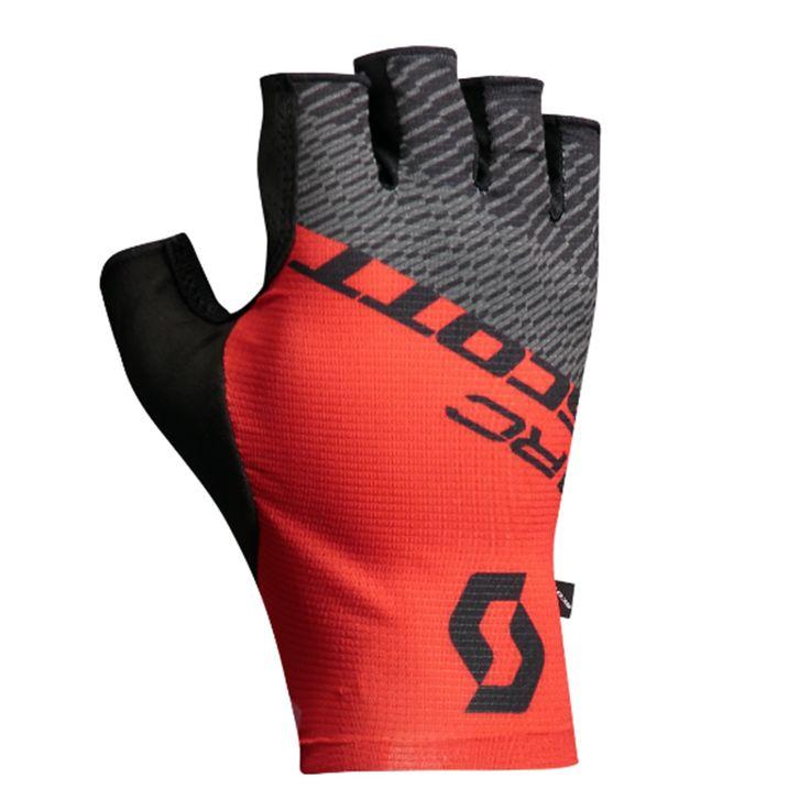 SCOTT  GUANTES RC PRO  Los guantes cortos RC Pro de SCOTT están diseñados pensando ante todo en las necesidades del ciclista de carreras. La malla elástica en el dorso ofrece una buena ventilación y su estructura en una sola pieza te garantiza la máxima flexibilidad, a lo que también contribuye la base de la palma en Coolskin. Al no llevar ningún acolchado extra, tendrás un contacto directo con el manillar y los notarás como una segunda piel.  $16.900  Encuéntralo en la tienda Scott