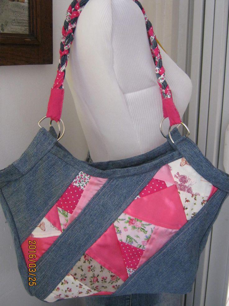 Farmer táska, pink crazy díszítéssel