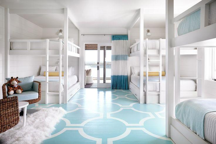 Kids' bunk beds at Possum Kingdom Lake