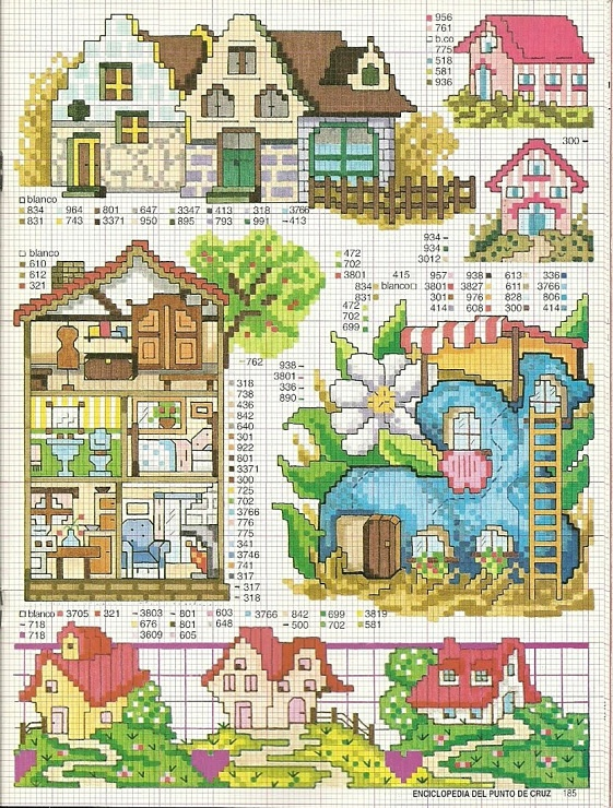 Houses chart - European style houses and fantasy style