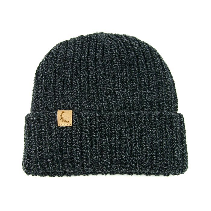 Knit Hat : Marled Charcoal Knit Hat