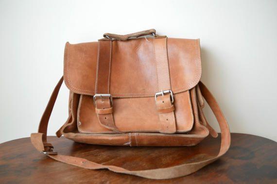 Mens Leather Bag, Vintage Leather Briefcase, Leather Laptop Bag, Leather Messenger Bag, Leather Crossbody Bag, Leather Office Bag