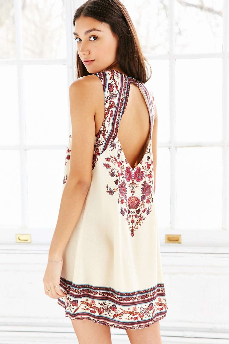 Ecote Guinevere Open-Back Frock Dress $69 Urban Outfitters
