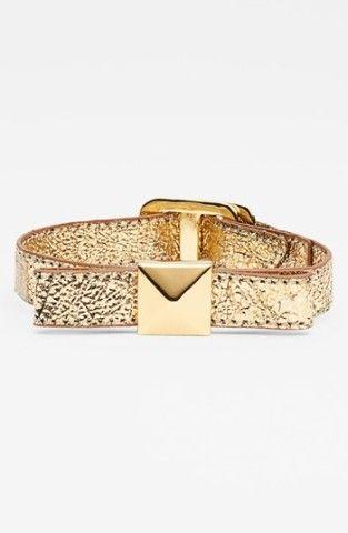 kate spade new york 'locked in' leather bow bracelet   Nordstrom