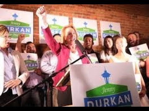 Durkan Takes Strong Early Lead in Seattle Mayor Race  Former U.S. Attorney Jenny Durkan took a strong early lead Tuesday night in a Seattle race for mayor that will give the booming liberal city its first female mayor since the 1920s. Ninety-one years after Seattle elected Bertha Knight Landes as mayor early returns were showing Durkan had captured more than a 20-point lead with nearly 61 percent of the first votes tallied in the all mail election. Urban planner Cary Moon had tallied just…