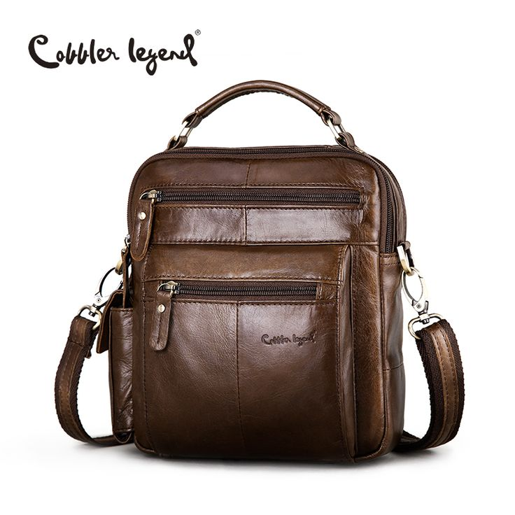 Cobbler legend merek desainer pria tas bahu tas bisnis 2016 baru berkualitas tinggi tas kulit asli untuk pria #109171