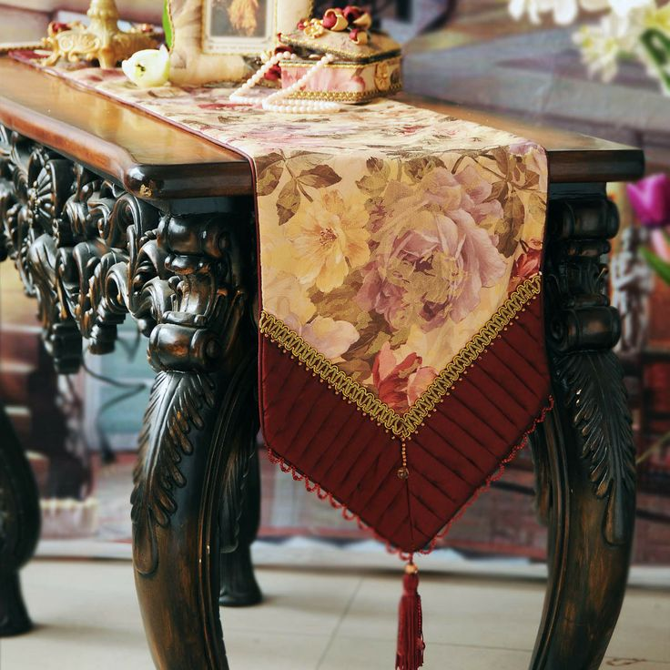 Meiju dining table coffee table runner table cloth fashion luxury fashion brief red-inTable Cloth from Home & Garden on Aliexpress.com