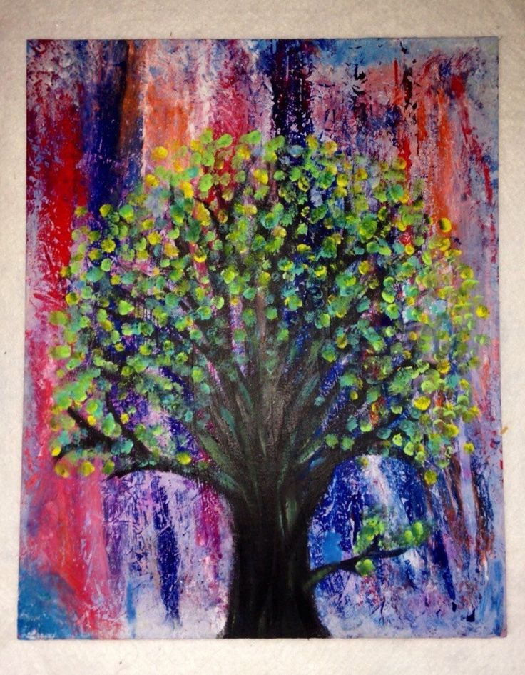 This tree represents the fruitfulness of good deeds. This painting it a visualization of positive energy raining down and fertilizing the growth of a life baring tree. https://www.etsy.com/listing/251746544/tree
