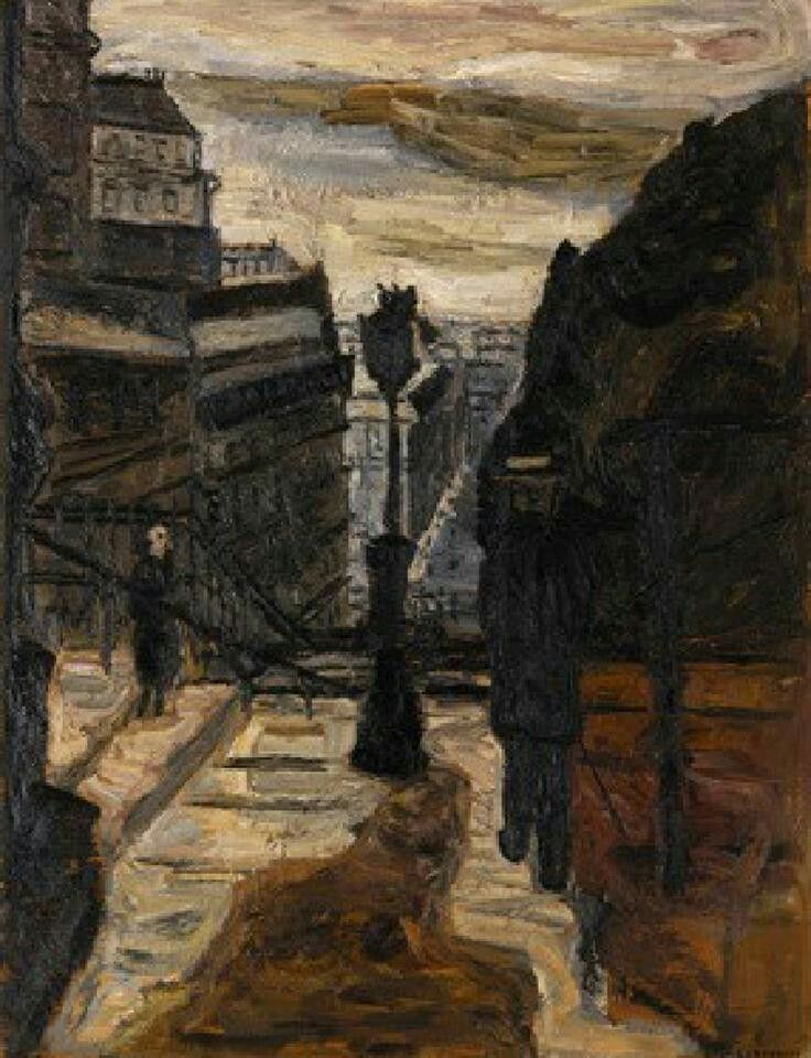 From Sacré-Coeur - Evert Lundquist , 1933 Swedish, 1904–1994 Oil on canvas , 116 x 89 cm. (45.7 x 35 in.)