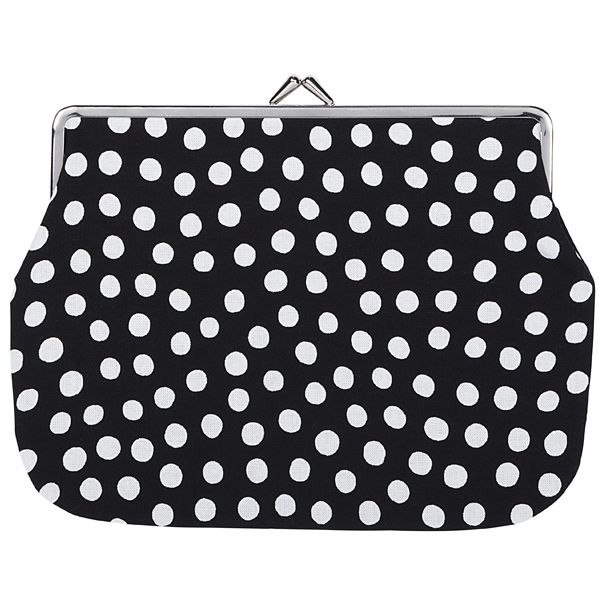 Tippa puolikas purse, black-white