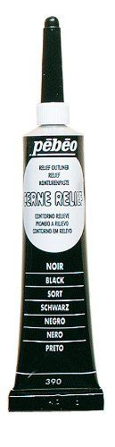 Amazon.com: Pebeo Vitrail Stained Glass Effect Cerne Relief 20-Milliliter Tube with Nozzle , Black: Arts, Crafts  Sewing