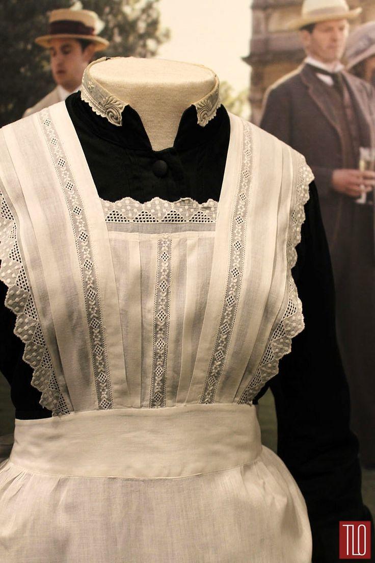 White pinafore apron nurse - White Apron