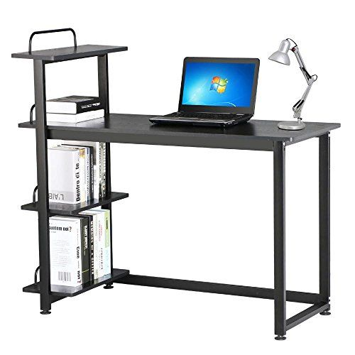 home office computer. world pride 4 tiers new home office computer desk pc laptop student study workstation table black o