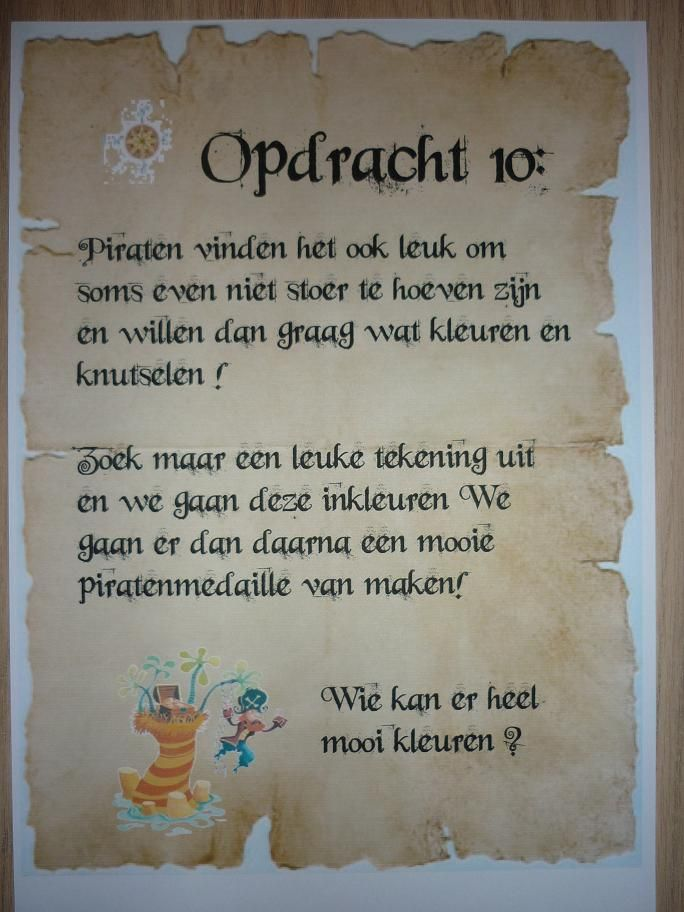 Piratentocht, Opdracht 10. -CE-