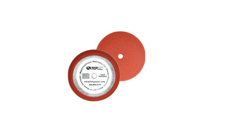 "8"" Red Foam Buffing Pad Extra Coarse Cutting Buffing Hook & Loop Grip Polish Car #TCPGlobal"