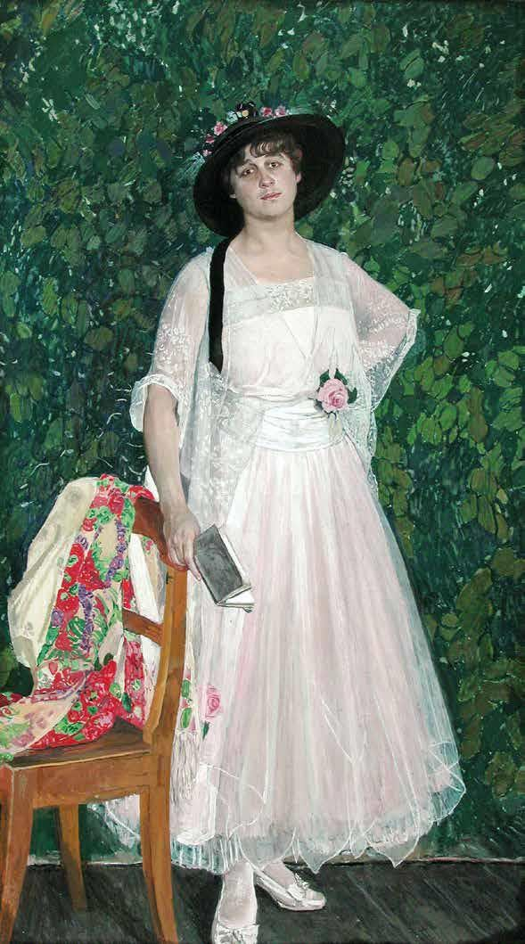 Aleksandr Golovin (Russian, 1863-1930) - Portrait of Maria Troyanova, 1916